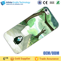 Popular Customized Sublimation 2D PC phone case with aluminum sheet rubber cell phone case for iphone 5 6 6S