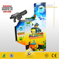 MINI aliens shooting game with 19inch shooting arcade game machine, tv gun shooting games