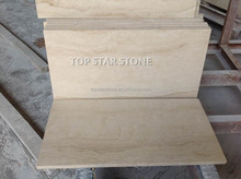 Manisa Light Travertine vein cut Honed Floor Tiles