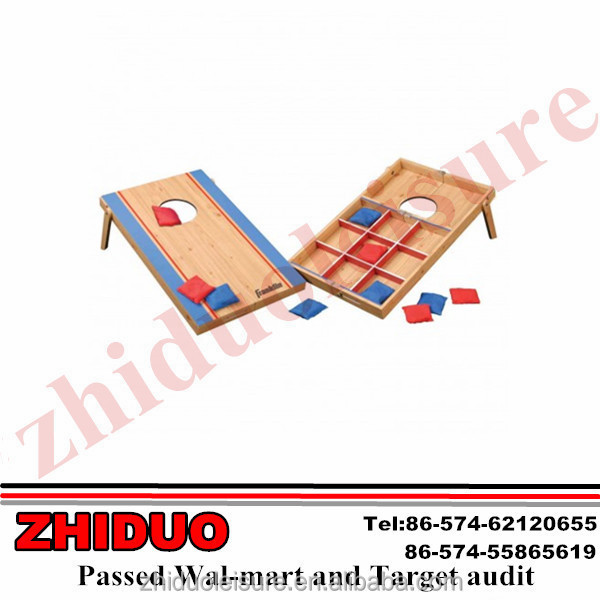 Bean toss MDF game bean bag and washer toss game