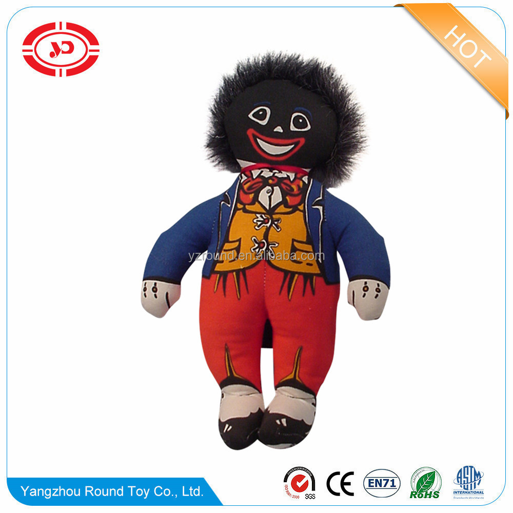 Golliwog plush black stuffed soft gift kids toy doll