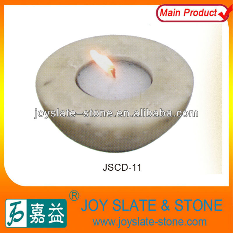 Perfect Chinese White Jade Stone Candle holder