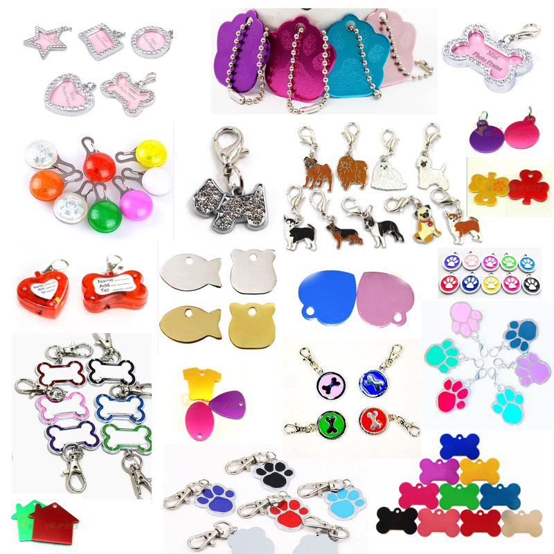Colorful Dog Tag Pet Products Paw Shape Round Reshine Metal Made Wholesale Online Pet Tag