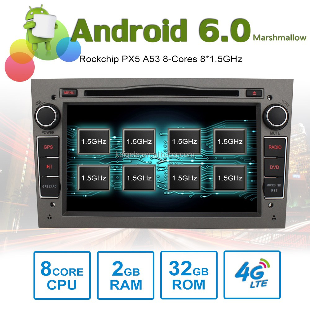 8 core Android6.0 car stereo DVD for OPEL Astra Antara Vectra Corsa GPS with 8 Cores 2GB RAM 32GB ROM support 4G SIM Card