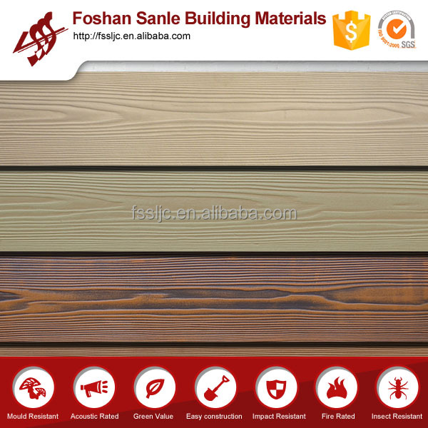 Fiber cement wood grain Lowes cheap wall paneling