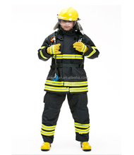 EN469 Nomex Fire Fighting Suit Fireman Suit Fire Retartant Suit with High Quality 4 Layers Structure