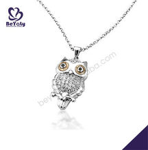 Owl shape charm stylish 925 sterling silver pendant blanks