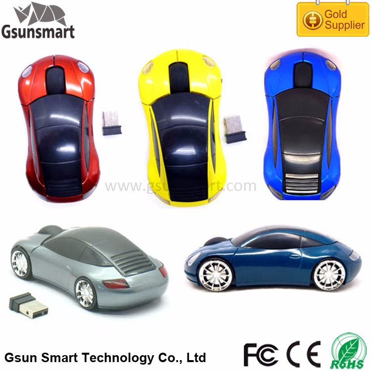 WM-05 Promotional Gift Car Shape 5V 100ma Optical 2.4g Wireless Mouse for PC Laptop