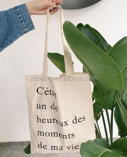 Hot sells in USA and EUR Simple Canvas bag Ins French alphabet bag