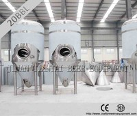 double wall beer fermenting plant for brewery for sale