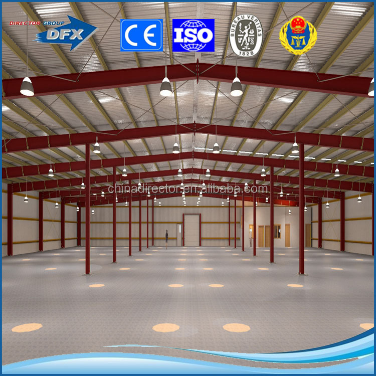 ISO China prefabricated low cost steel structure used warehouse construction metal building kit