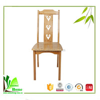 New design Durable bamboo wooden dining chair