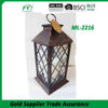 Popular LED classical indoor and outdoor black plastic lantern with net designed