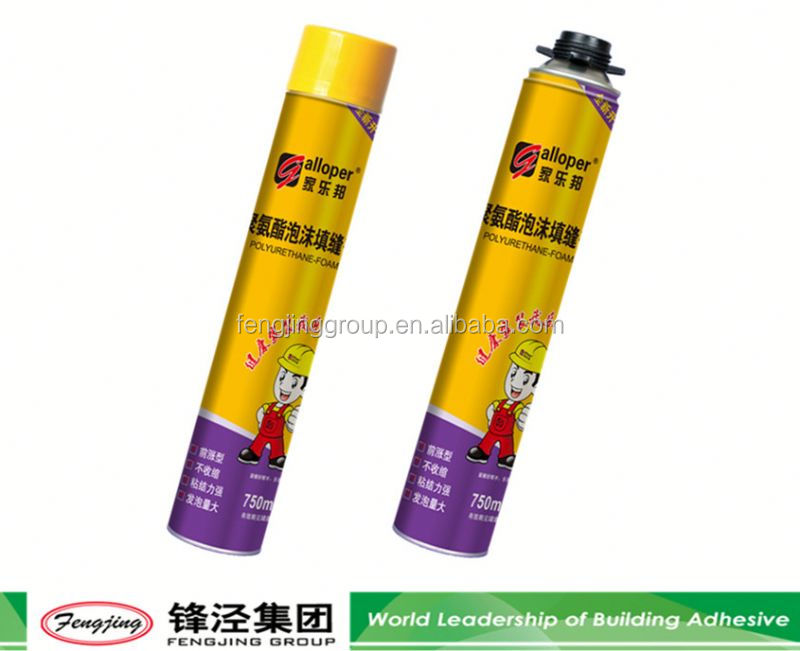 All purpose 500ml light yellow pu foam sealants for wood from manufacturer