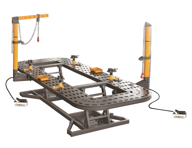 Car body straightening bench frame machine