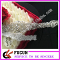 hot fix Bridal trimmings rhinestone applique trimming for wedding dress accessories wholesale