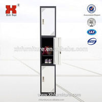 bedroom steel furniture double color 3 door gym locker