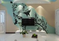 TV Wall Decoration 3D Template Wallpaper Murals for Decoration