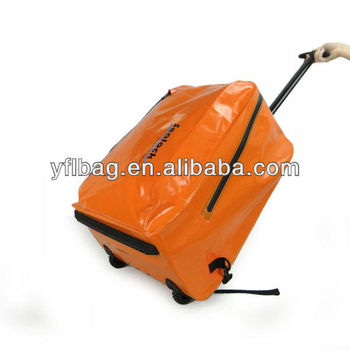 waterproof trolley luggage bags can be carry backpack