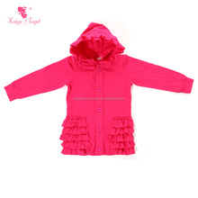 low price! high quality hot pink ruffle coat kids clothes girls winter coats
