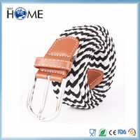Colorful Braided Fabric Woven Elastic Stretch Belt for Men And Women