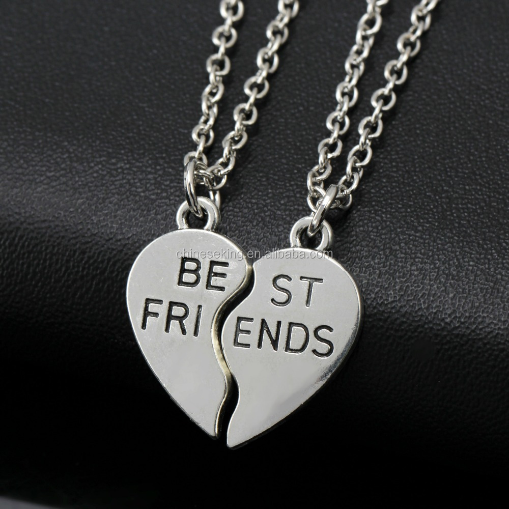 2017 Custom Matching Couple Necklaces Best Friend Love Couple ...