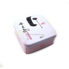 Wholesale decorate cosmetic can/cosmetic tin box/metal cosmetic tin packing