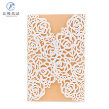 handmade design paper laser cut muslim luxury graduation party baby name puberty ceremony eid unveiling wedding invitation <strong>card</strong>