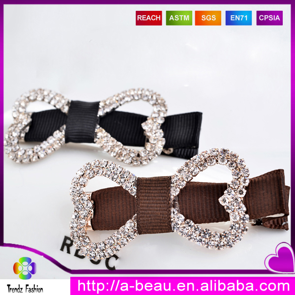 Trendz Wholesale Fashion Girls <strong>Hair</strong> <strong>Accessories</strong> With Rhinestone Bowknot 2016 FXG_2901