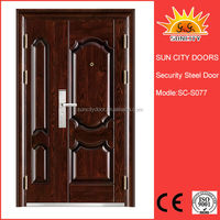SC-S077 One half exterior safety steel door design