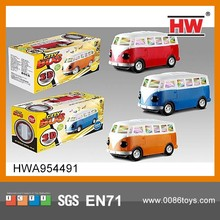 High Quality Plastic 3D Electric Toy School Bus With Light And Music