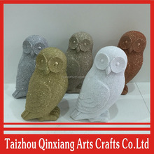 Wholesale resin big eyes fat owl for home decoration