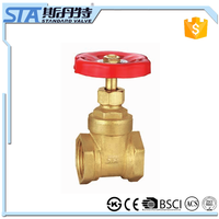 ART.4013 OEM precision top level rising stem type manual forged brass gate valve 3 inch 30 years valve manufacturer in china