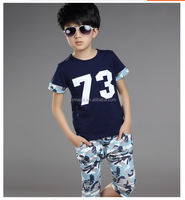 korean fashion boy summer short sleeve clothes kid wear clothing for infant baby wholesale 2016