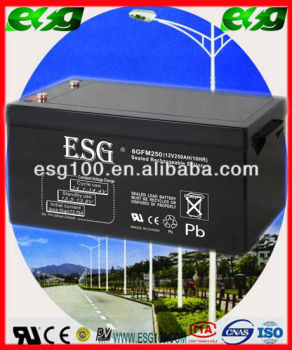AGM battery 12v 250AH lead crystal battery