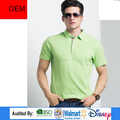 Cheap price!!! New fashion design green polo t-shirt in Nanchang factory