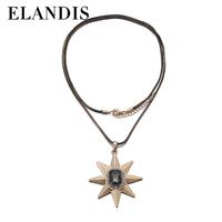 E-ELANDIS beautiful gold pendants necklace fine jewelry necklace beautiful sweater necklace 1512075