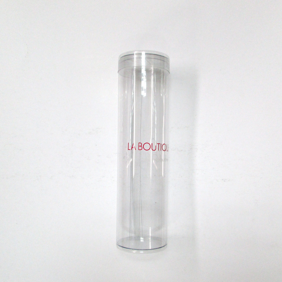 Small transparent clear plastic cylinder tube for candy