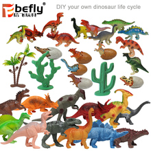 Kids educational diy play set life cycle dinosaur toys 2018