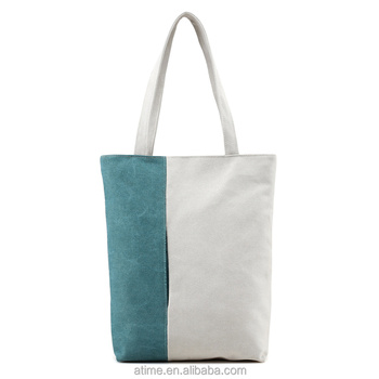The latest design of high quality and inexpensive simple and elegant mosaic Canvas Tote Bag