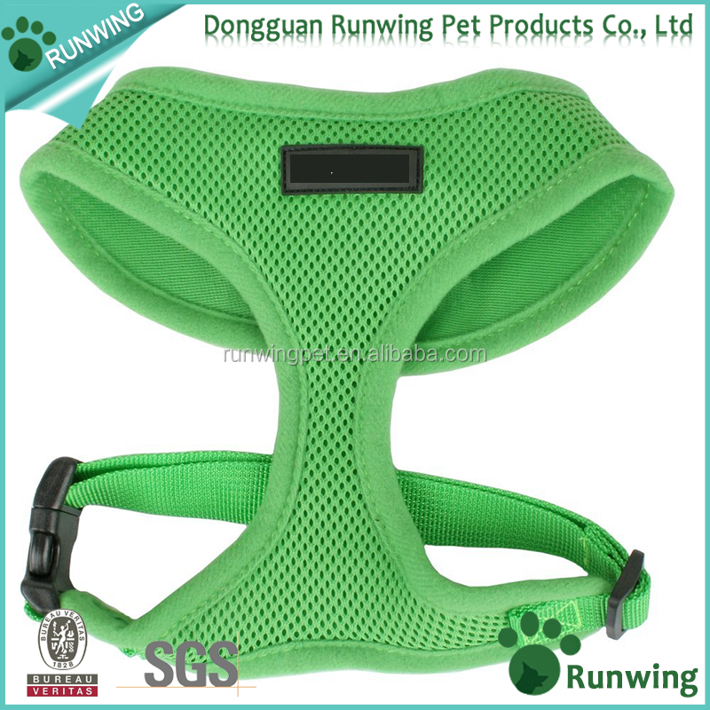 high quality no pull soft mesh fabric Dog Harness in custom colors