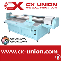 Galaxy UD-2512UFC flatbed digital pvc card plastic uv printer mdf eco solvent printing machine