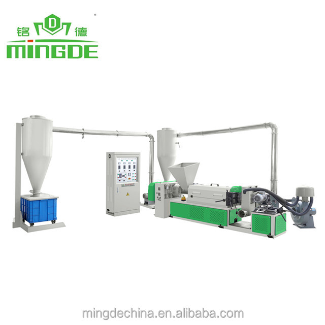 China Ruian Air cooling waste plastic recycling machine,granulator