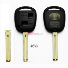Blank Key Replace For Toyota RAV4 2 Buttons Remote Key Shell + 46MM Uncut Blade