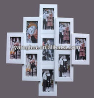 "chinese nice ""5x7"" 4x6"" white multi plastic wall hanging photo frame"