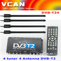 DVB-T24 HDTV car DVB-T2 4 tuner 4 Antenna set top box MPEG4 high speed Thailand