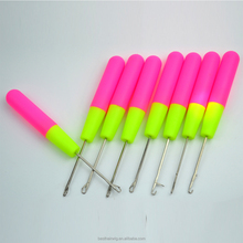 Colorful tool handle knitting needles crochet hook set for making dreadlock Interlocking Lock Hair