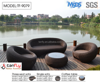 F high quality synthetic rattan outdoor garden sofa furniture
