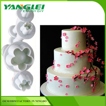 4 pcs/setFondant Cake Sugarcraft Cookies Plunger Cutter Mold Tool with YANGLEI