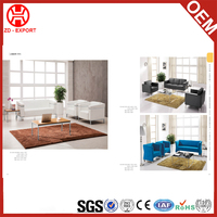 Cheap factory price white PU leather with aluminium frame sofa furniture leisure set design